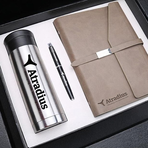 Corporate Notebook, Pen & Thermos Gift Set Image 3