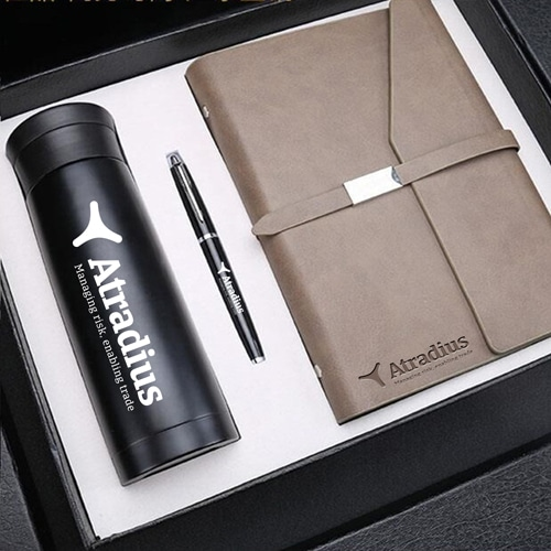 Corporate Notebook, Pen & Thermos Gift Set Image 4