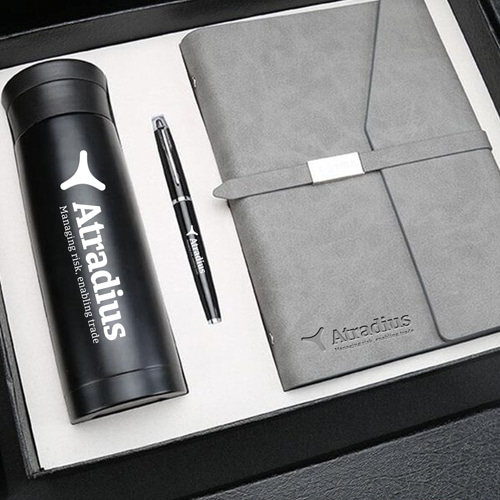 Corporate Notebook, Pen & Thermos Gift Set Image 5