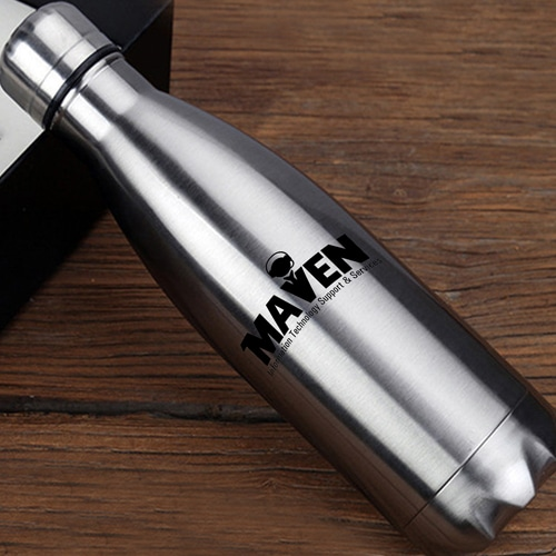 Stainless Steel Water bottle & Notebook Gift Set with Keychain Image 5
