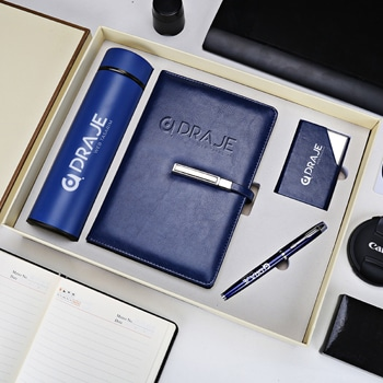Wholesale Notebook & Pen Gift Set with Card Holder & Thermos