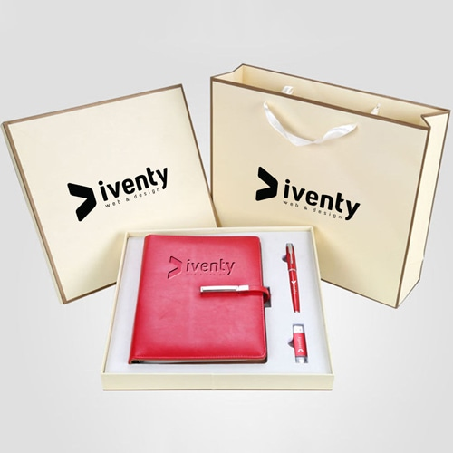Corporate Lock Notebook Gift Set with Pen & USB Flash Drive Image 1