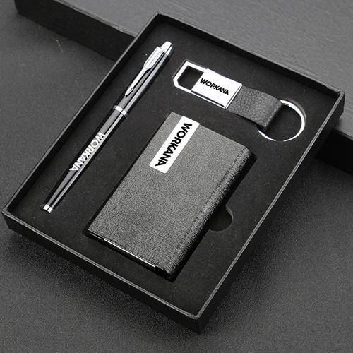 Wholesale Keychain & Pen Gift Set with Card Holder Image 1