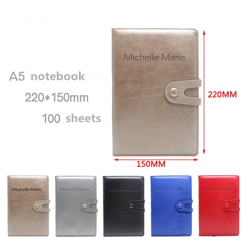 Leather Notebook & Thermos Gift Set with Pen Image 3