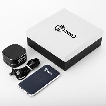 Banque d'alimentation sans fil de 8 000 mAh avec haut-parleur Bluetooth