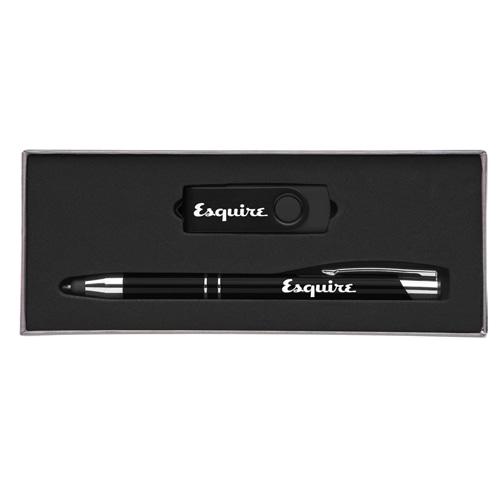 Custom Executive Pen Gift Set with 8GB Flash Drive Image 2