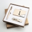 Corporate Card Holder & Pen Gift Set with USB Flash Drive