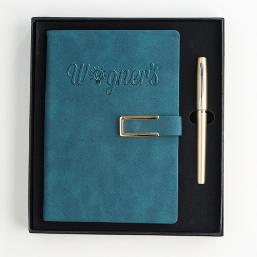 Hard Cover PU Leather Notebook Set with Pen Image 4