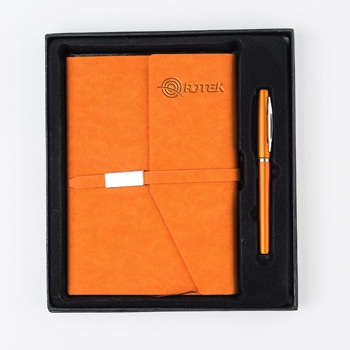 A5 Size PU Leather Notebook & Pen Gift Set