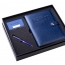 Executive Leather Notebook & Pen Gift Set with Card Holder