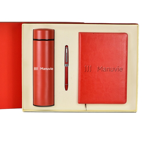 A5 Size PU Leather Diary & Pen Set with Vaccum Bottle Image 6
