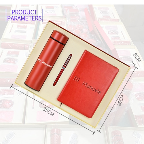 A5 Size PU Leather Diary & Pen Set with Vaccum Bottle Image 8