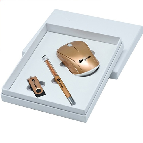 Wireless Mouse & Flash Drive Gift Set with Stylus Pen Image 2