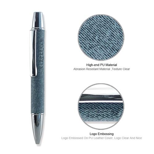 Elegant PU Leather Cover Pen & Flash Drive Set Image 6