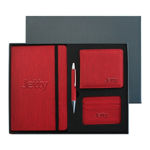 Leather Diary & Pen Gift Set with Card Holder & Mens Wallet Image 5