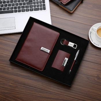Corporate 4 in 1 Leather Gift Set