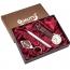 Custom Watch & Pen Mens Gift Set with Metal Keychain