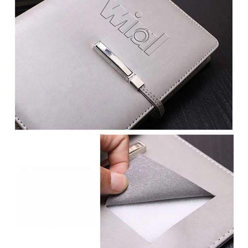 A5 Size Leather Cover Notebook with Executive Pen Image 9