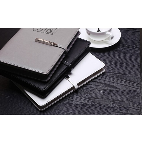 A5 Size Leather Cover Notebook with Executive Pen Image 8