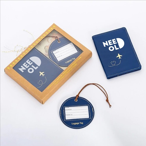 Custom Leather Luggage Tag & Passport Cover Set Image 1