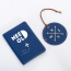 Custom Leather Luggage Tag & Passport Cover Set Image 3