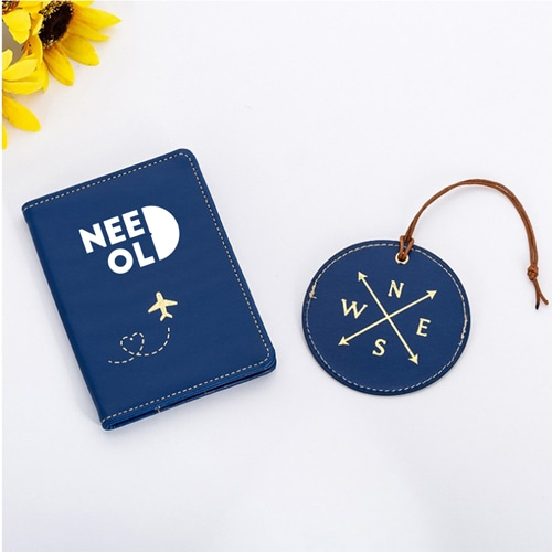 Custom Leather Luggage Tag & Passport Cover Set Image 4