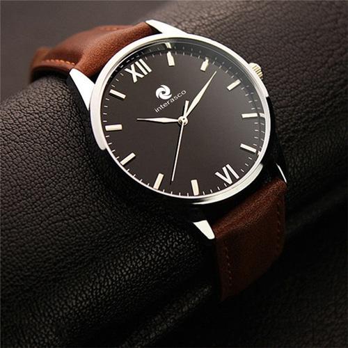 Mens Zipper Wallet & Wrist Watch Gift Set Image 2