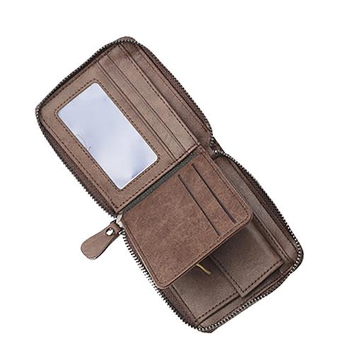 Mens Zipper Wallet & Wrist Watch Gift Set Image 3
