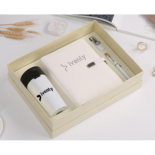 Leather Notebook & USB Flash Drive Gift Set with Executive Pen & Vaccum Cup Image 3
