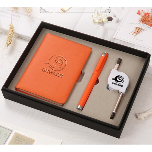 Organizer Planner Notebook with Pen & 3 in 1 Retractable Cable