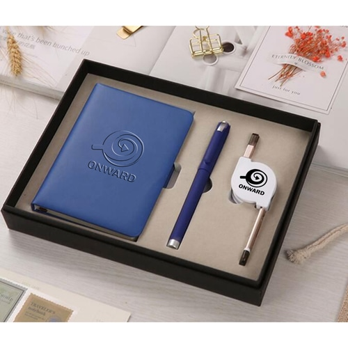 Organizer Planner Notebook with Pen & 3 in 1 Retractable Cable Image 1