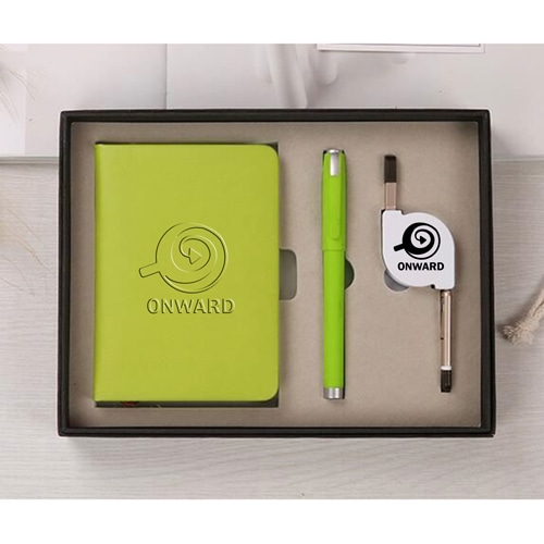 Organizer Planner Notebook with Pen & 3 in 1 Retractable Cable Image 2