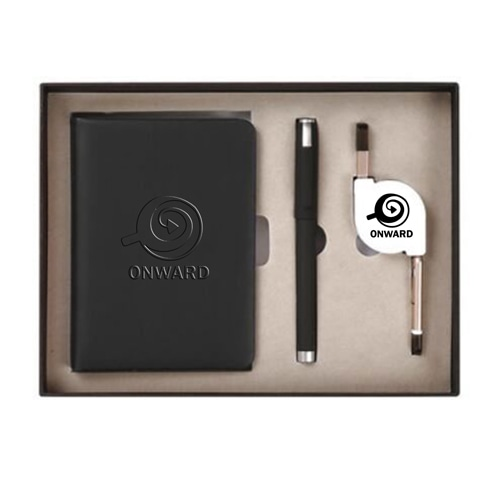 Organizer Planner Notebook with Pen & 3 in 1 Retractable Cable Image 3