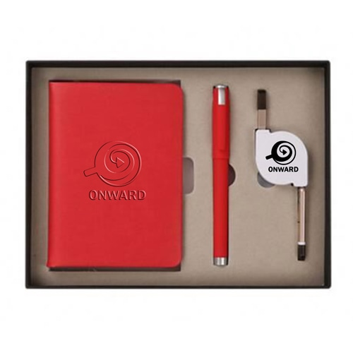 Organizer Planner Notebook with Pen & 3 in 1 Retractable Cable Image 4
