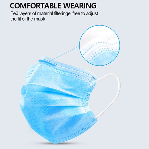 Disposable 3 Ply Surgical Face Mask Image 1