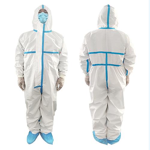 Disposable Coverall Medical Hazmat Suit Image 1