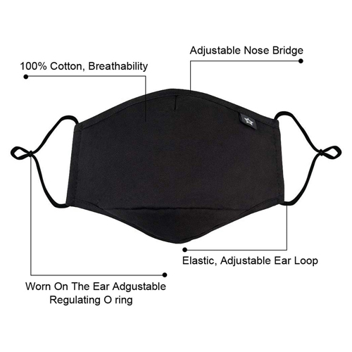Activated Carbon Washable Face Mask Image 2