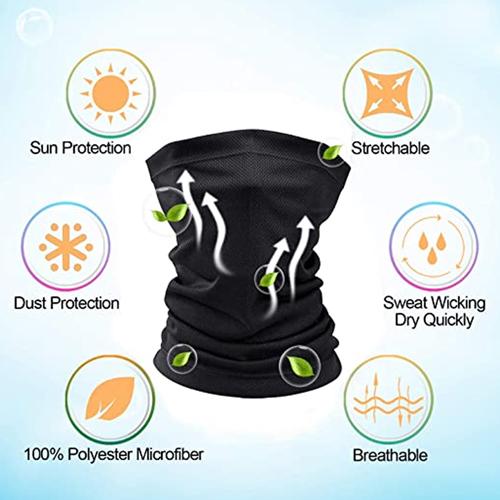 Reuseble Neck Covered Bandana Face Mask Image 2