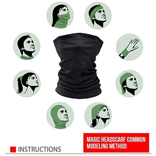 Reuseble Neck Covered Bandana Face Mask Image 4