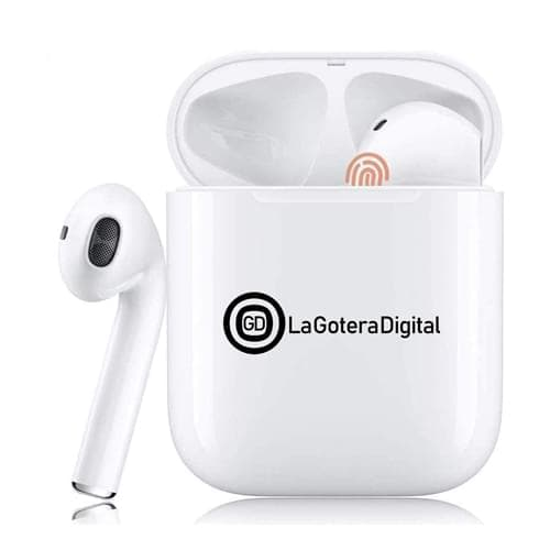 Custom 5.0 Bluetooth Earbuds with Built-in Microphone and Charging Box