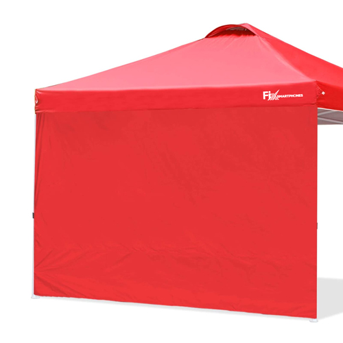Custom Instant Outdoor Canopy with Wheeled Carry Bag, 1 Side Wall, 4 Sand Bags Image 1