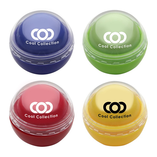 Customized Colored Round Shape Lip Balm