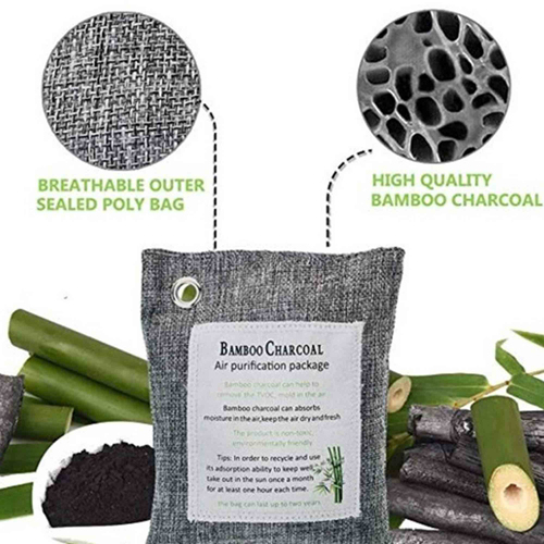 Custom Natural Bamboo Activated Charcoal Air Purifying Bags Image 1