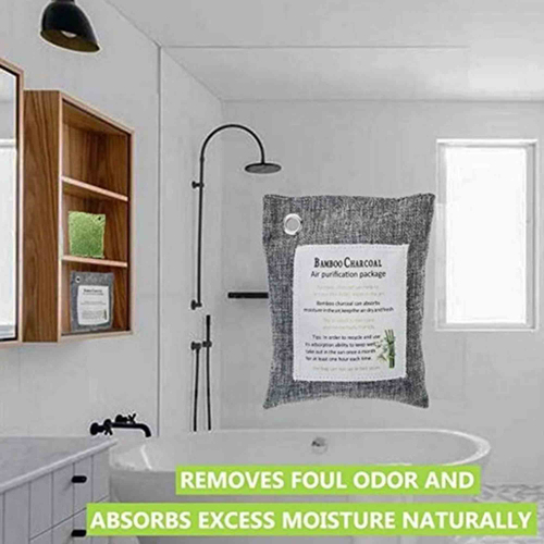 Custom Natural Bamboo Activated Charcoal Air Purifying Bags Image 3