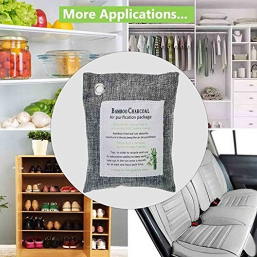 Custom Natural Bamboo Activated Charcoal Air Purifying Bags Image 5