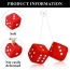 Hanging Square Car Dice with Suction Cup Image 1
