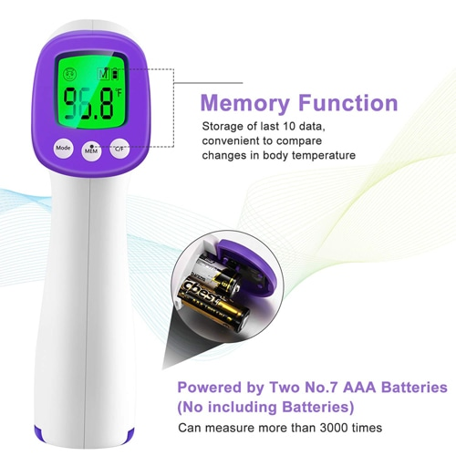 3 in 1 Digital Display Forehead Infrared Thermometer Image 4