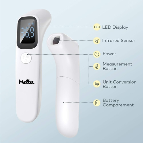 Non-Contact Forehead Digital Infrared Thermometer Image 1