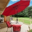 Outdoor Table Umbrella with Push Button Image 1