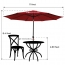 Outdoor Table Umbrella with Push Button Image 2